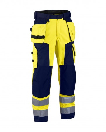 Blåkläder Softshell broek High vis klasse 2