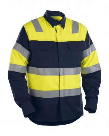 Blåkläder FR Overhemd High vis