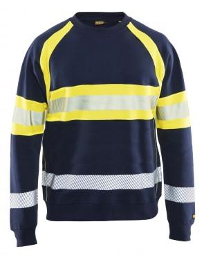 Blåkläder High vis sweatshirt klasse 1